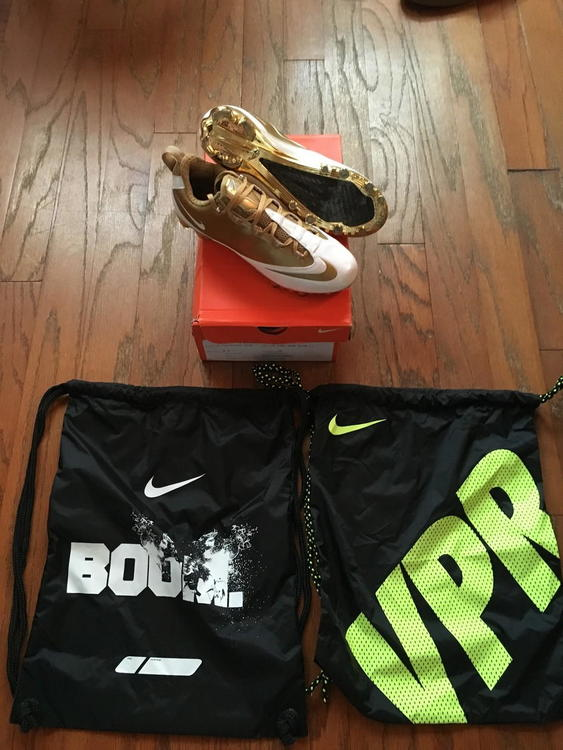 OG Gold Custom Nike Vapor Carbon Cleats 9.5 (Chrome Gold Bottoms) - SOLD 394fc6901fd4
