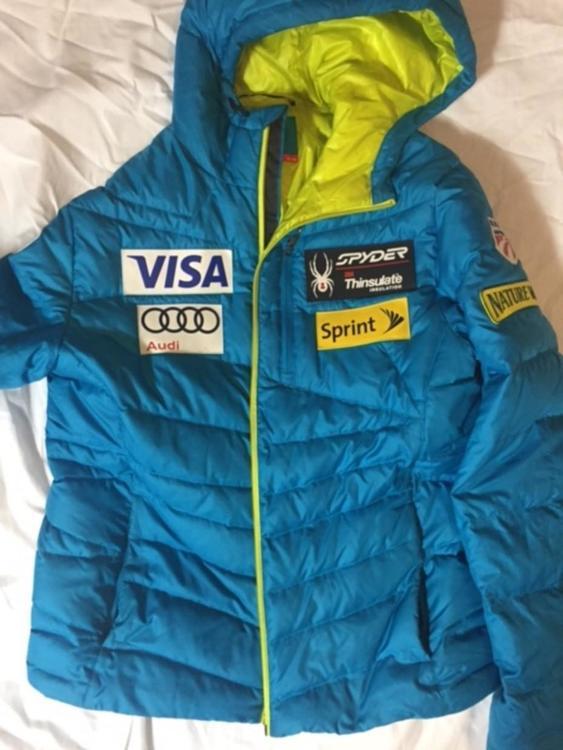 Spyder Mens Medium Blue US Ski Team down jacket | Skiing Apparel ...