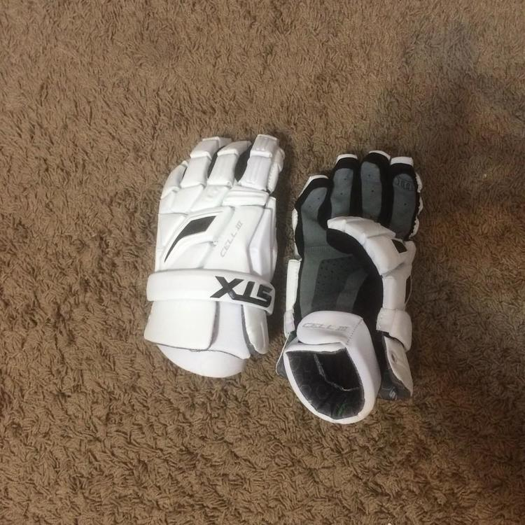 White STX Cell III gloves size 13