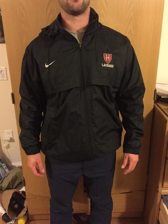 Harvard Lacrosee Team Issued Nike Jacket Size Large
