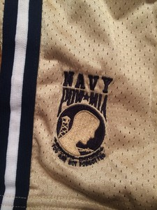 Navy Game Shorts- Size L in gold