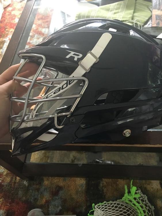 Navy R with Chrome Facemask