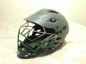 Warrior TII Matte Grey & Green Custom Fade w/ Loyola chinstrap