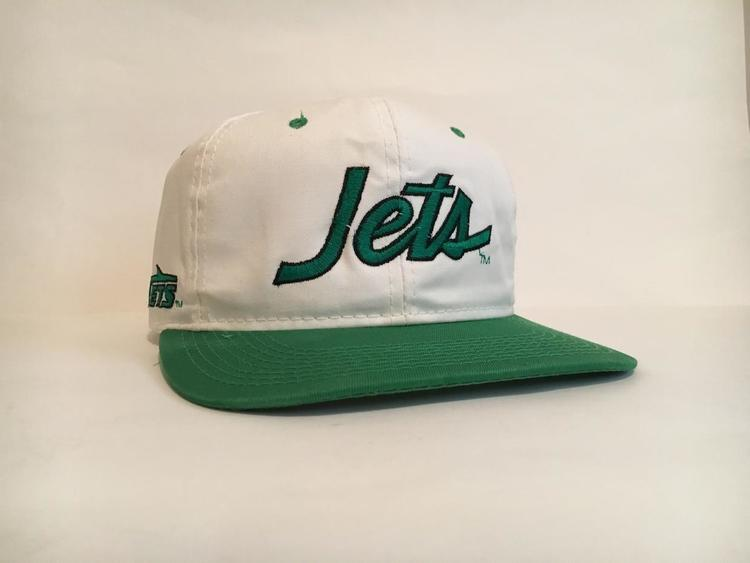 28aed4e88ad Vintage New York Jets Sports Specialties script Snapback Hat - SOLD