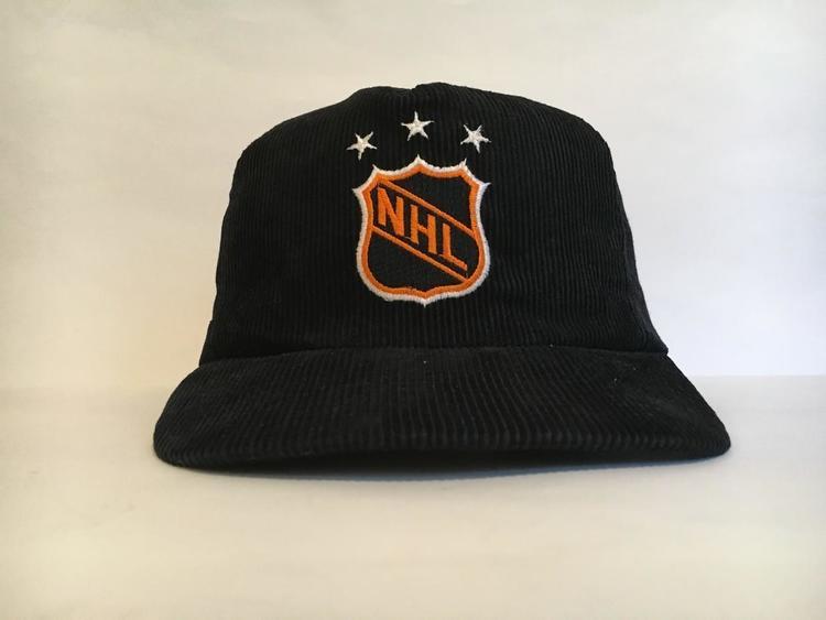 97576ed6a76 Vintage Corduroy NHL Plain Logo Snapback by Ted Fletcher