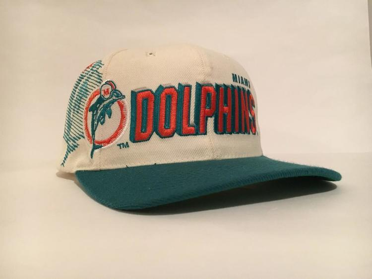 0dc886dc Vintage MIAMI Dolphins Sports Specialties Shadow Snapback Hat