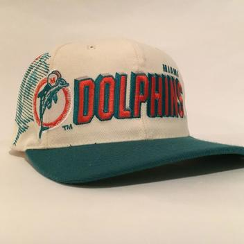 Vintage MIAMI Dolphins Sports Specialties Shadow Snapback Hat  4bdd81a04b44