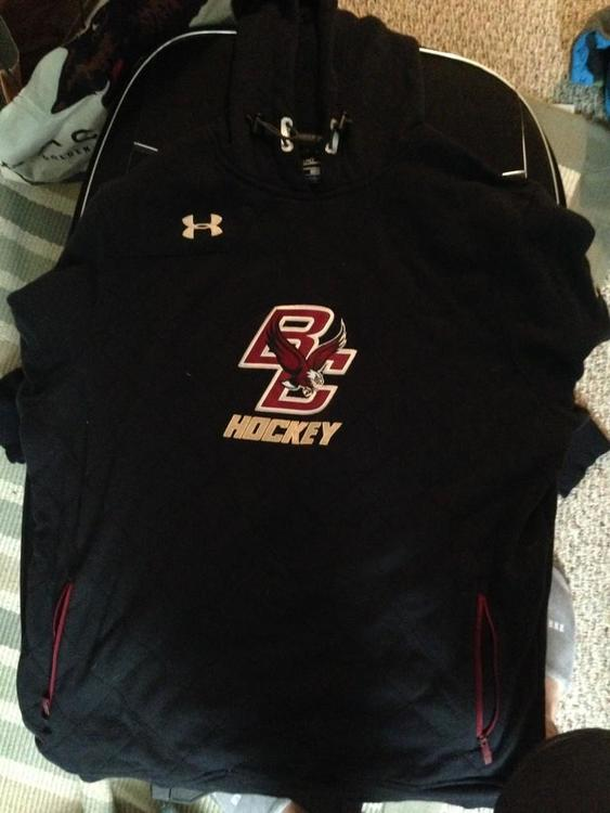 37b78e494 Boston College Team Issued Under Armour Hoodie | SOLD | Hockey ...