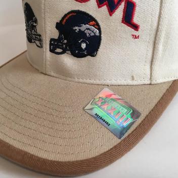 Vintage Super Bowl XXXIII Snapback Hat by Logo Athletic - SOLD 291026204