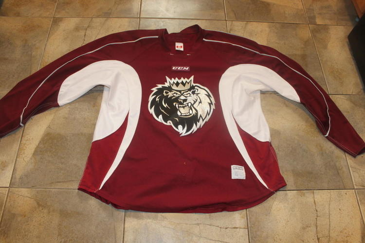 Manchester Monarchs AHL Practice Jersey Maroon - SOLD 742e62316ba