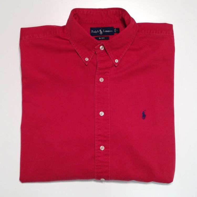 Polo Ralph Lauren Red Button Down Shirt | Lacrosse Apparel ...