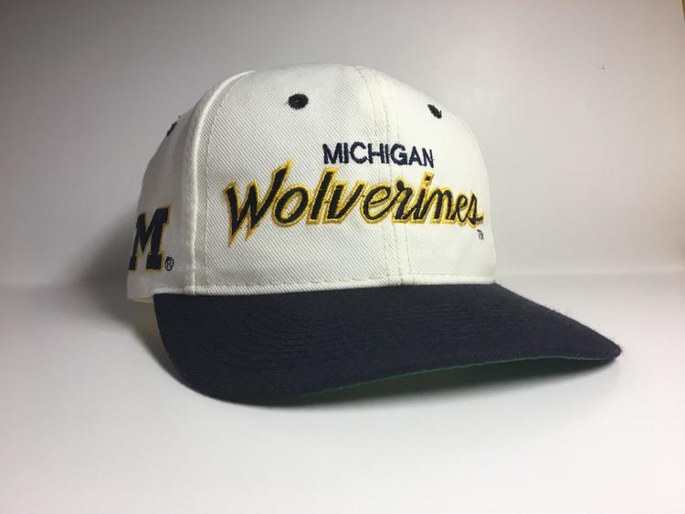 Vintage Michigan Wolverines Sports Specialties Script Snapback ... a249e507082f