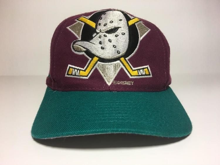Vintage Mighty Ducks Logo Athletic Snapback Sold Lacrosse
