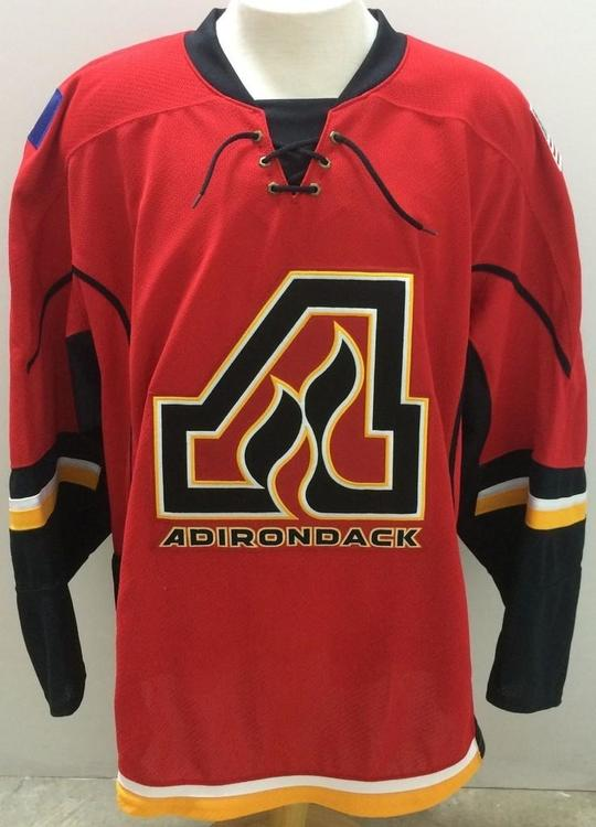 AHL Pro Stock CCM edge Adirondack Flames Jersey Red - 15% OFF 62632d18bc4