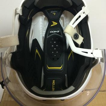 588c2d2bab3 Easton E400 Pro Stock Helmet Large Oakley Short Cut Visor White ...