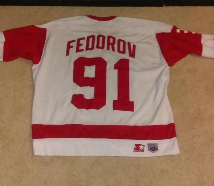 timeless design f9dca 186b2 Retro Detroit Red Wings Jersey Sergei Fedorov #91 Starter