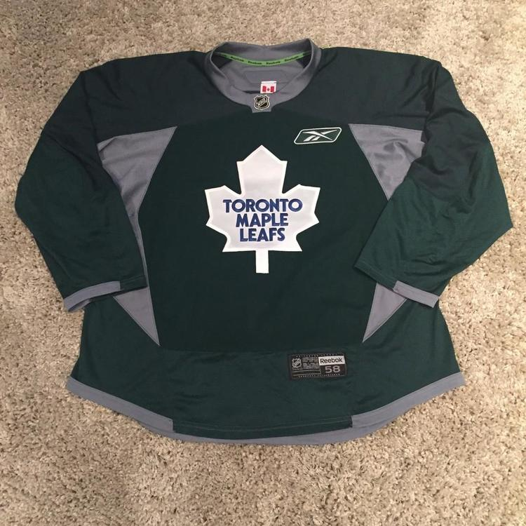 quality design e1d4d 63f9d Pro Stock Reebok Edge 3.0 Toronto Maple Leafs Practice Jersey Green 58