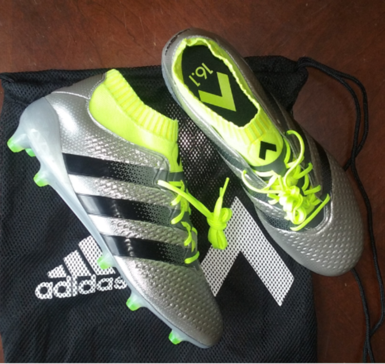 e366dcd53 Adidas Addas Ace 16.1 Primeknit sz 8.5 liquid chrome brand new ...