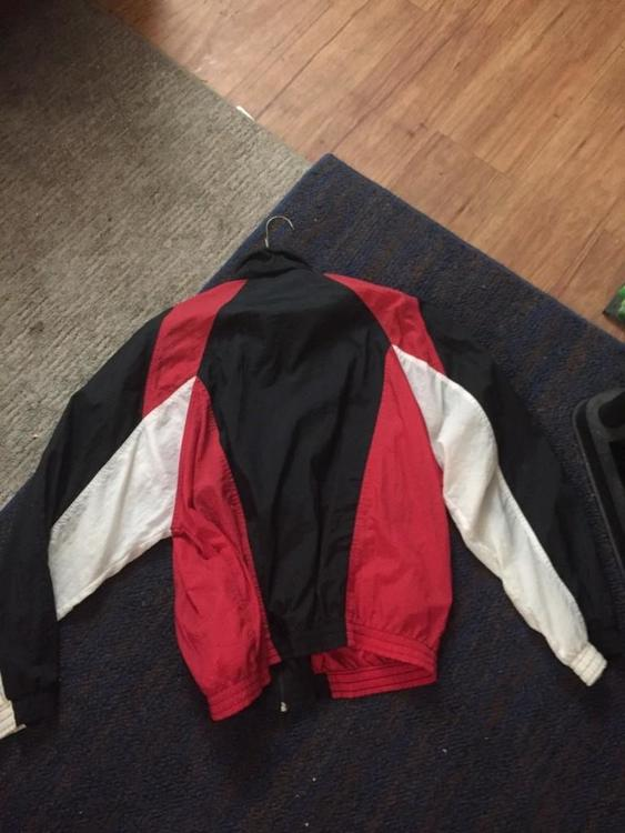 Nike Vintage Red Black And White Windbreaker Jacket Size
