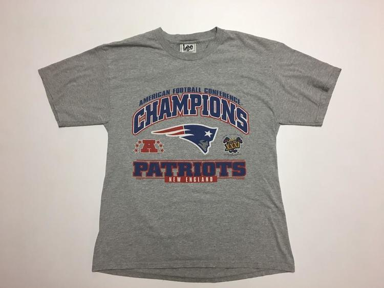 the latest 09f70 6c17d Vintage New England Patriots T Shirt AFC Champions