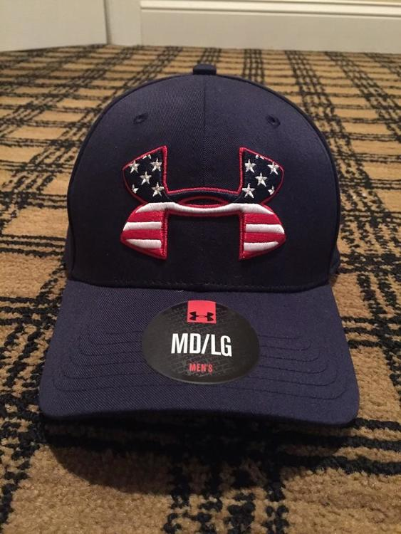 2ae10b81a7d UNDER ARMOUR USA THEMED FLEXFIT HAT BNWT