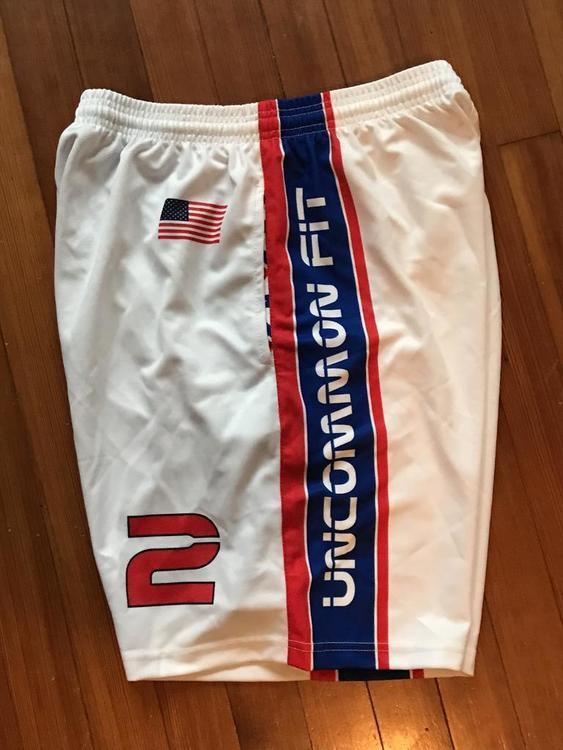 Laser Sharks USA Theme Shorts   SOLD   Lacrosse Apparel