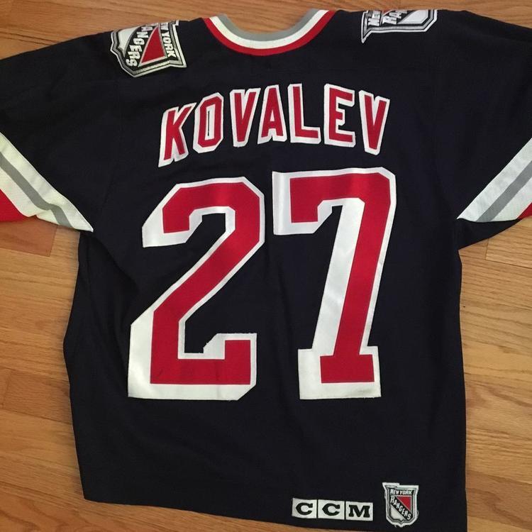 huge discount 0bd37 6c4a3 Alexei Kovalev NY Rangers Alternate Liberty Jersey CCM Medium