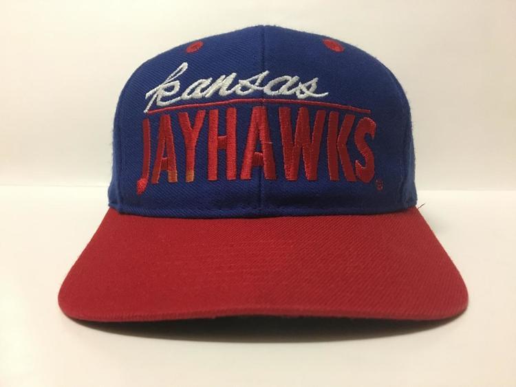 Vintage Snapback Hats >> Vintage Kansas Jayhawks Snapback Hat By The Game