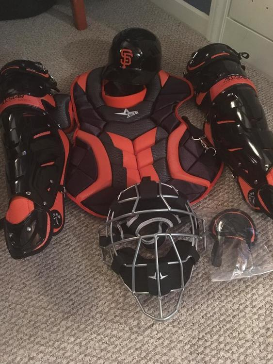 All Star Catchers Gear Black And Orange Giants Sold
