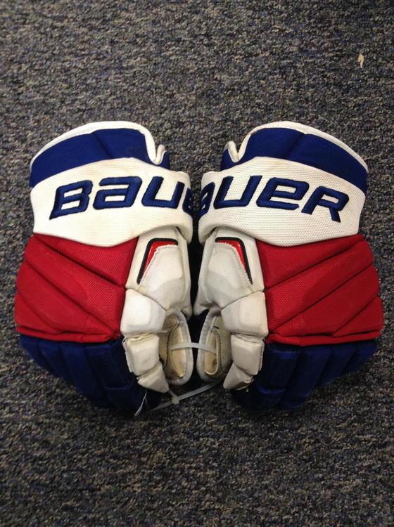 Bauer New York Rangers Apx2 Pro Stock Custom 15 Quot Used 6