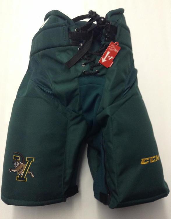 UVM CCM HP32 Custom Pro Stock Hockey Pants Green New Sr