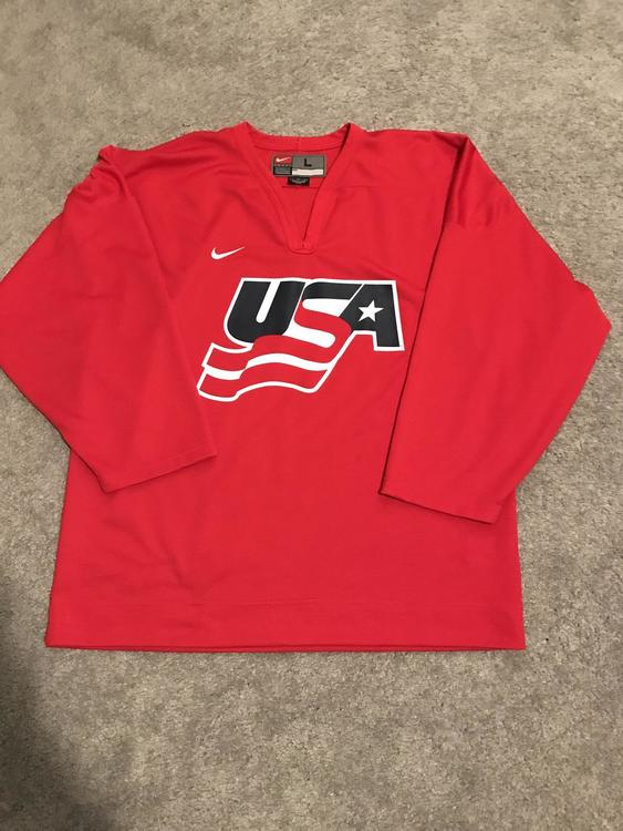 Pro Stock Nike Team USA Hockey Jersey Red Large - SOLD 52d96d7dc04