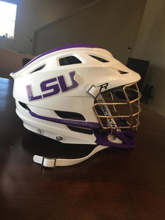 Cascade Lsu Team Helmet Sold Lacrosse Helmets