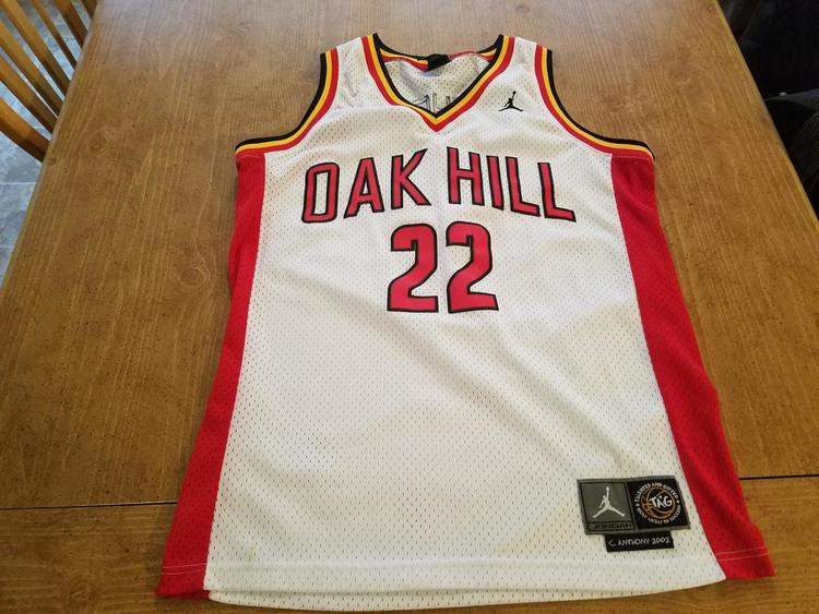 hot sale online 26df8 04781 shop carmelo anthony oak hill jersey for sale b53e2 b6bba
