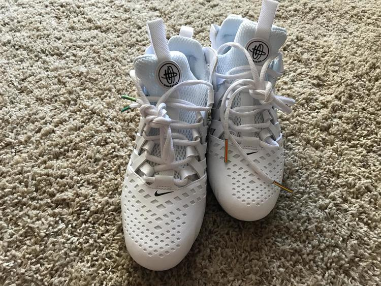 2e0d4d64ddb6 Nike HUARACHE V PRISM CLEATS Limited Edition | SOLD | Lacrosse Footwear |  SidelineSwap