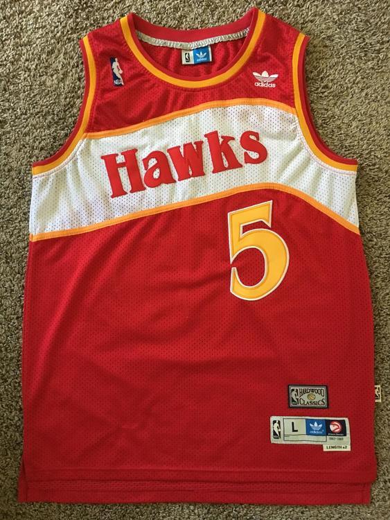 293781ee84f Adidas Vintage Atlanta Hawks Jersey  5 Josh Smith Size Adult Large ...