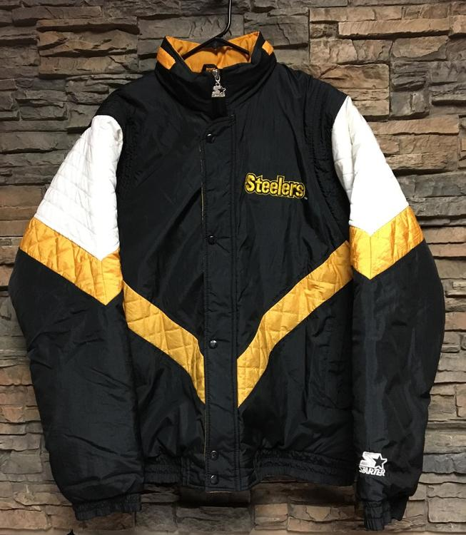 sports shoes cfec4 8f62c Vintage Starter Pittsburgh Steelers Jacket