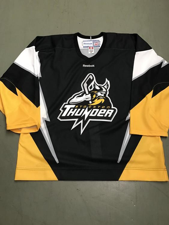 watch 1d270 9ff1d Stockton Thunder ECHL authentic jersey size 54