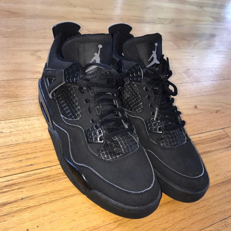 b7b99abb1e9 Nike Retro Jordan 4 Black Cat (Might Trade For Lax Stuff) Lacrosse Footwear  SidelineSwap ...