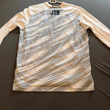 063a1acb8 Nike Custom White DRI-FIT Long Sleeve Shooting Shirt | SOLD ...