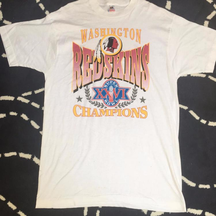 Vintage NFL Washington Redskins Super Bowl XXVI Champs T-Shirt Men s Size  XL - SOLD 4f844fa16