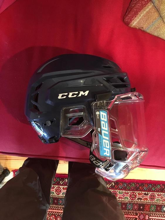 308564d6626 CCM Brand New Tacks 710 Navy Blue Helmet used twice