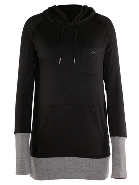 b7c44e6686d5 Armada Womens Small Black Feather Pullover Hoodie