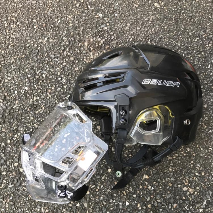 5054af33d8d Bauer Re-akt Xtra-small Black Helmet With Bauer Concept 3 Jr. Shield