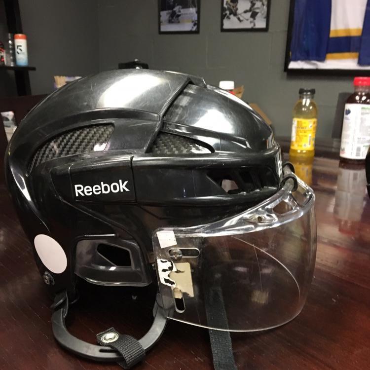reebok 11k helmet. ccm black reebok 11k helmet with the oakley visor included   hockey helmets sidelineswap