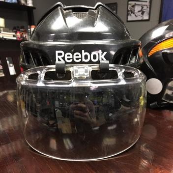 reebok 11k helmet medium. black reebok 11k helmet with the oakley visor included - sold medium l