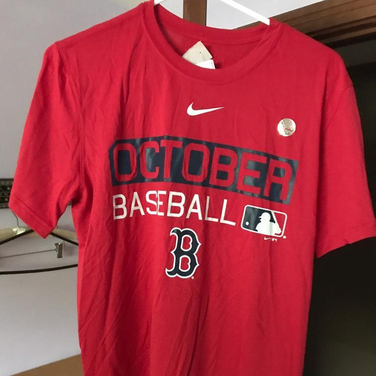 low priced 1a3b6 e79a0 Boston Red Sox October Baseball Nike Dri Fit Playoff Shirt Medium