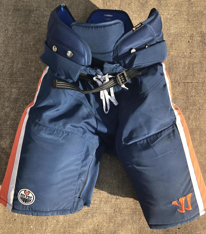 Warrior Covert QRL Pro Stock Hockey Pants Large Edmonton Oilers 9133