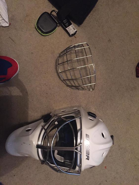 0ce9e5eda83 Bauer NME 8 Fir 3 (Large) goalie mask with extra cage  200 obo ...