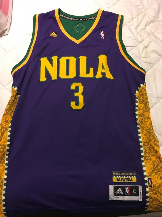 ... shopping new orleans hornets nola chris paul mardi gras jersey sold  377f3 e90fc norway adidas chris ... a802eedd5